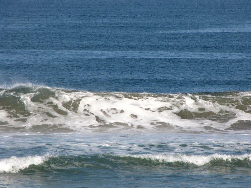 Waves off beach along hwy 101