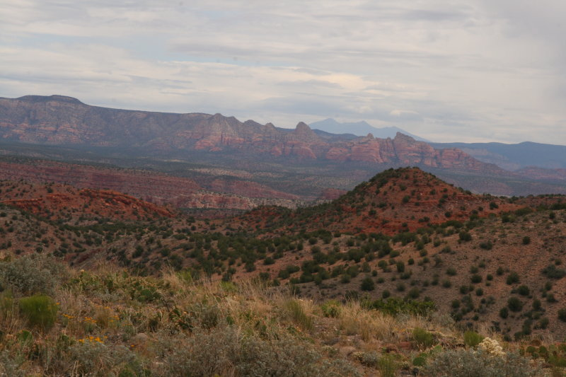 Looking toward the Sedona area - San Francisco Peaks in the distance