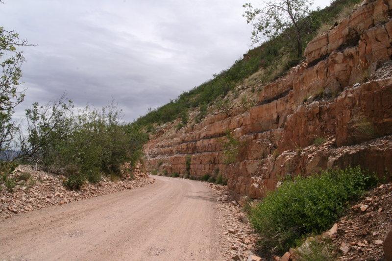 Interesting road cut