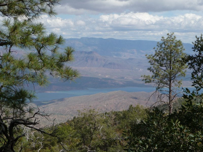 View of Roosevelt Lake from the trail