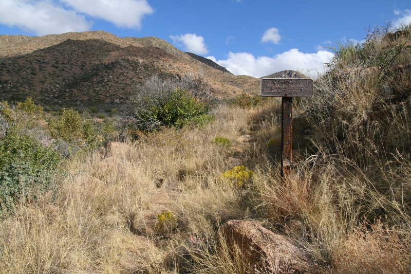 Ballantine Trail passes by  Cline Cabin Site
