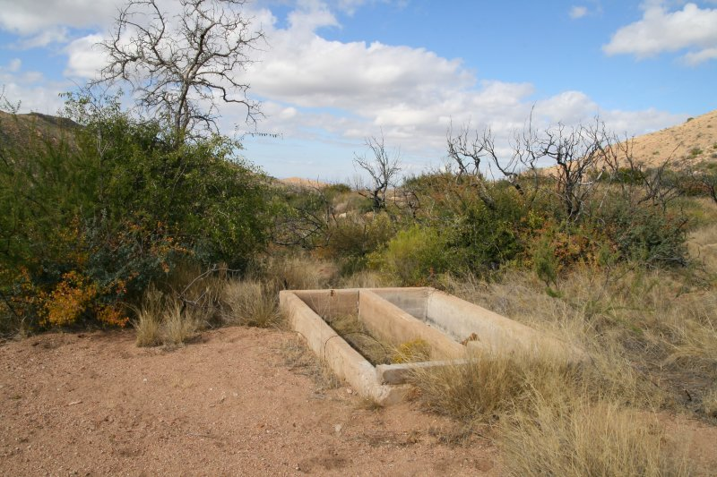 Second water trough on the North side of Picadilla creek