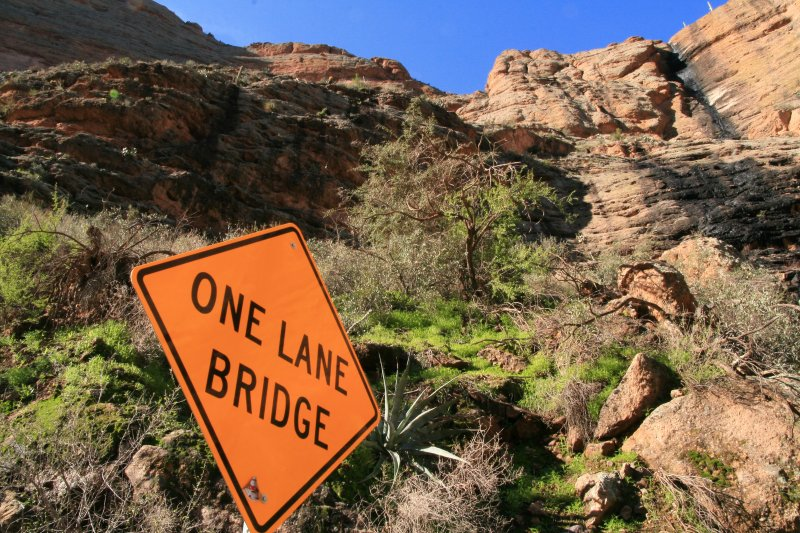At the bottom of Fish Creek Hill on SR 88 - The Apache Trail