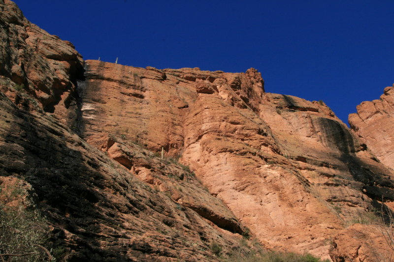 Looking up to the top of Fish Creek Hill