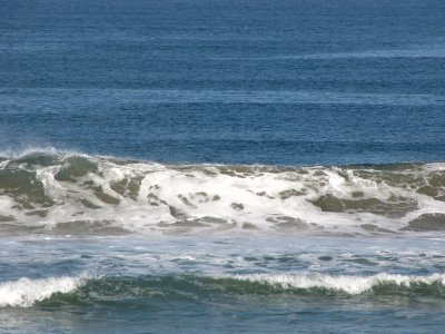 Waves off beach along hwy 101