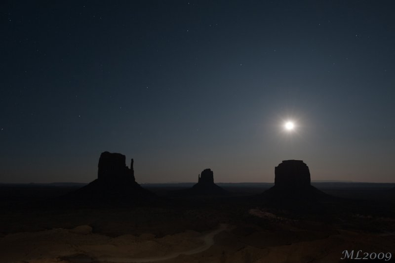 Monument Valley - The moonlight  (DSC_2524)
