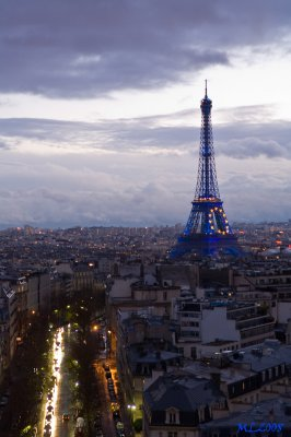 Paris- Eiffel Tower- Blue light , Blue time - (0112)