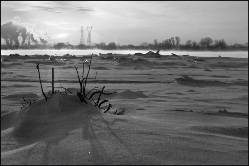 Fleuve St-Laurent sur glace