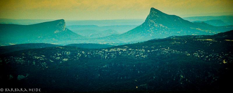 Mont Saint Baudile, view on Pic Saint Loup