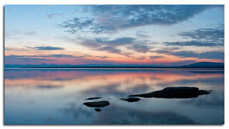 Sunrise, Yellowstone Lake