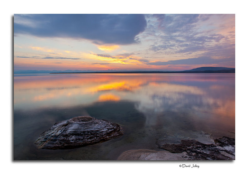 Sunrise, Fishing Cone Geyser - Yellowstone Lake