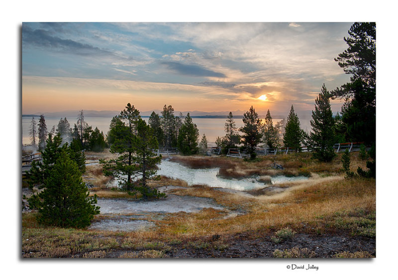 Sunrise West Thumb Geyser Basin