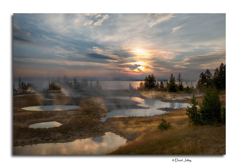 Sunrise, West Thumb Geyser Basin