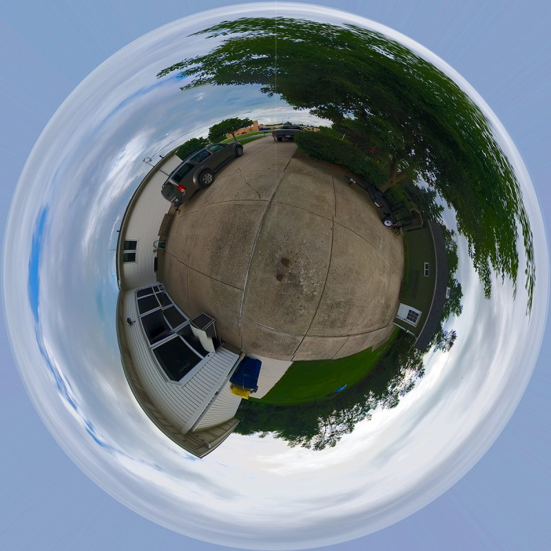 Globe Pano with Peleng 8mm Fisheye