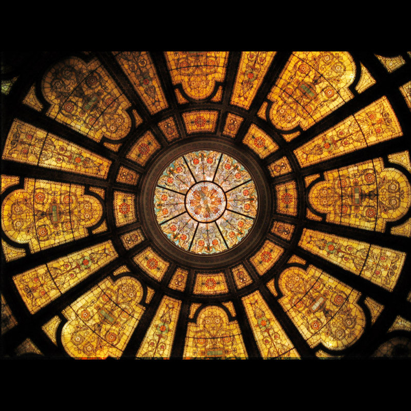 North wing stained glass dome (firm of Healy and Millet)