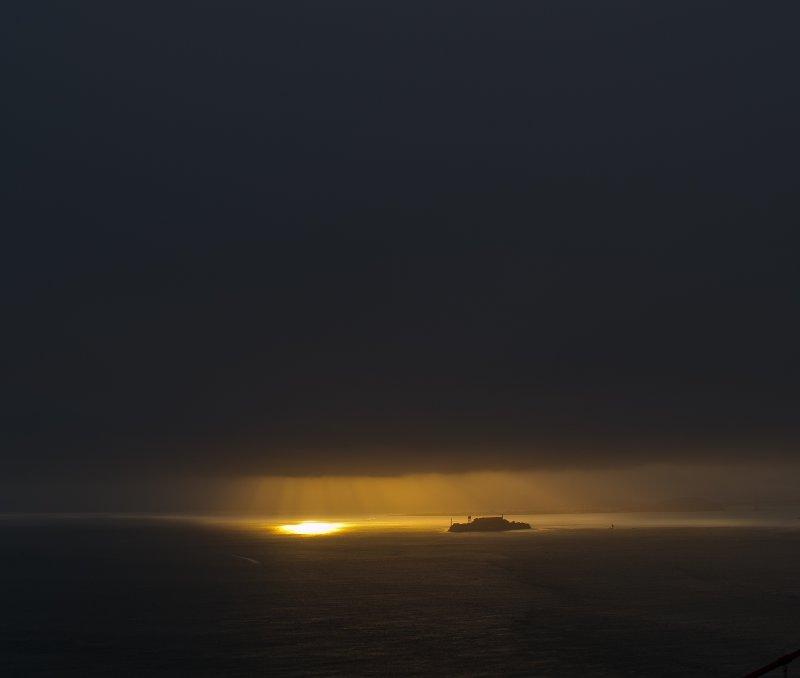 first rays hitting Alacatraz island August 29 2010 1 of 1.jpg
