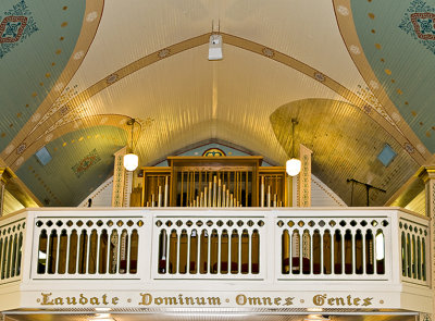 St Marys, chior loft and organ