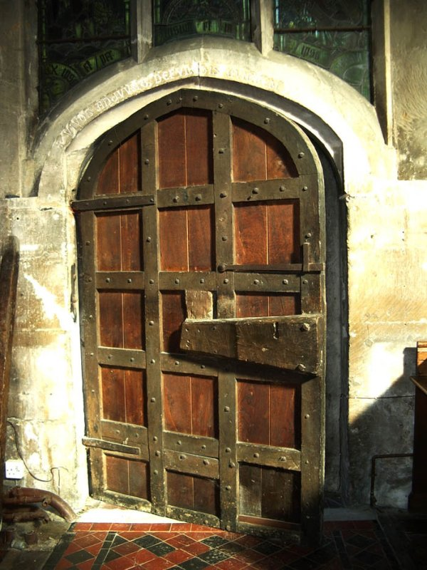 Church door, Winchcombe, Gloucestershire