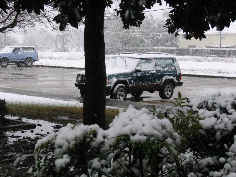 Snow in southern Louisiana!!!