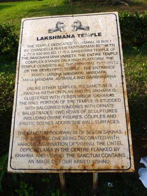 History of Lakshman Temple