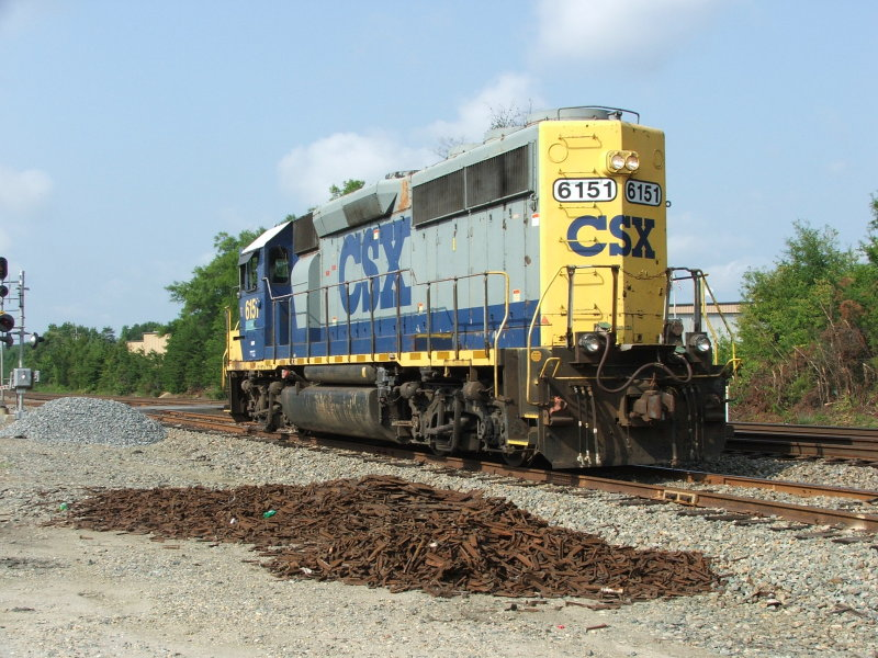 D793 with 6151 heads back to Frederickburg yard with no cars.