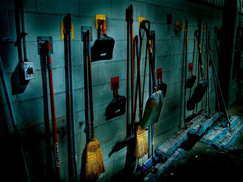 Stalins 1937 Cleaning Room...