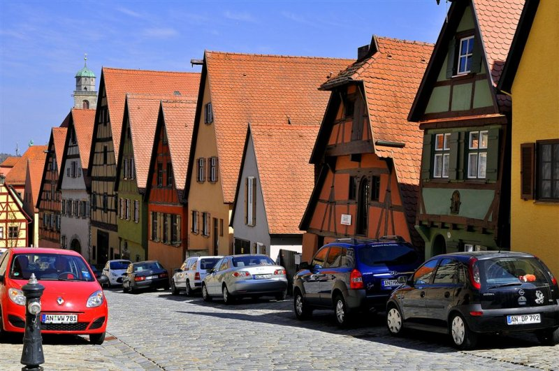 Roofs of Charming Dinkelsbuhl