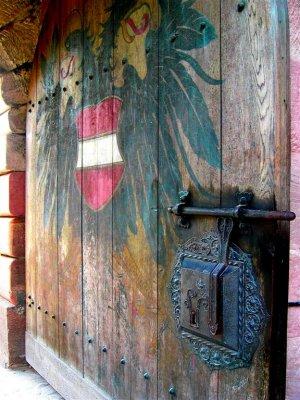 Gates of Nurnbergs Castle, Bavaria, Germany