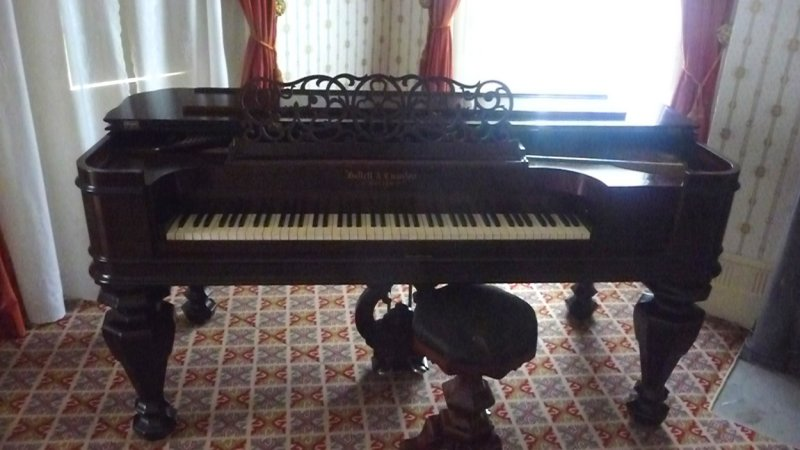 Piano in the Formal Parlor. Obviously, music was important in the Van Buren family.