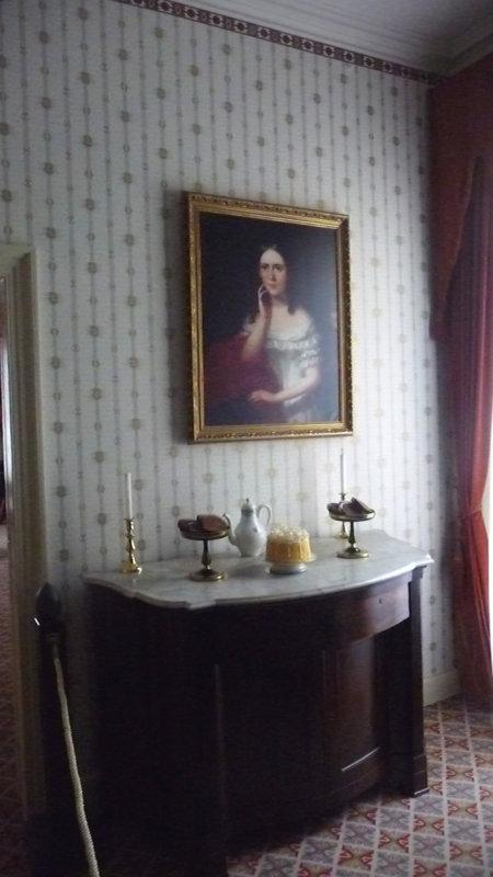 Breakfast Room portrait of Mary Singleton McDuffy Hampton, the niece of the wife of Van Burens oldest son, Abraham.