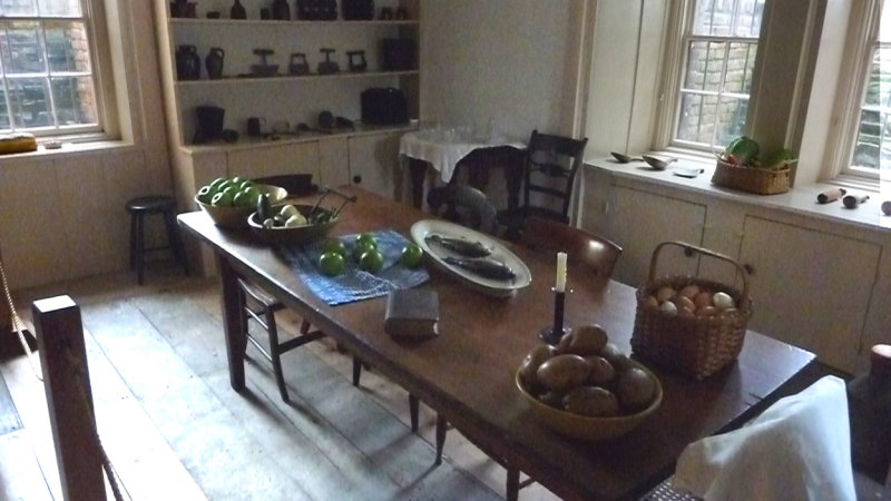 The table was set up to look the way it did when Martin Van Buren lived there.