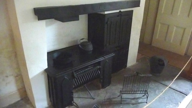 The Kitchen had the most modern appliances of its day, with a coal burning stove, a hand-operated pump and running water.