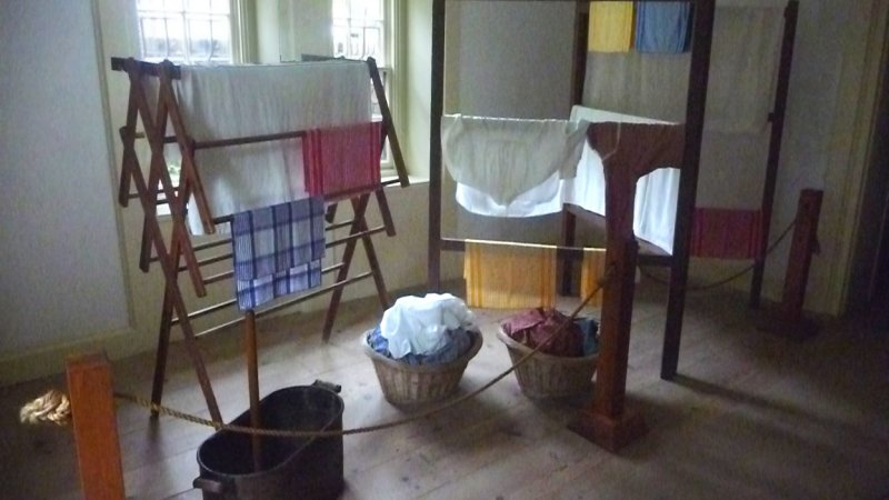 Also, in the cellar is the Laundry Room. Van Buren was obsessive about cleanliness and changed his clothes 3 times a day!