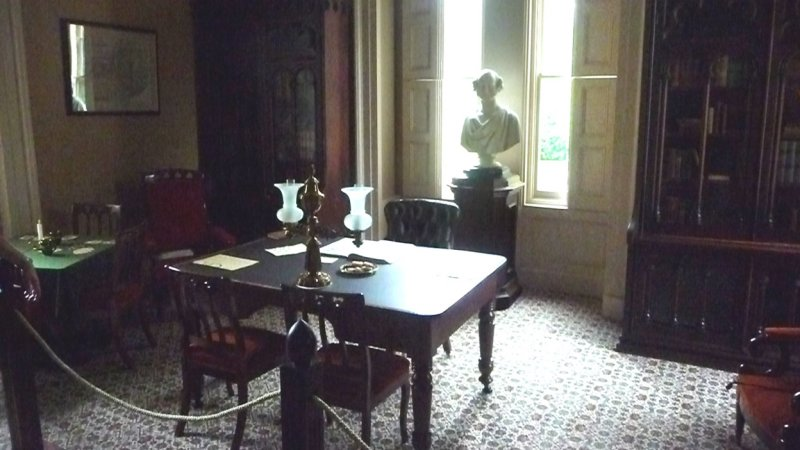 The Library was another room where Martin and his guests would retire after dinner to talk politics.