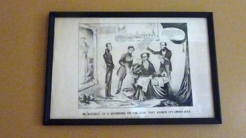Political cartoons were popular in Martin Van Burens day (before the time of television and the Internet).