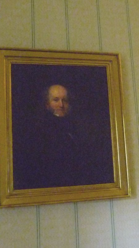 Portrait of Martin as a younger man, which hangs in Lindenwald.