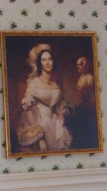 Portrait of Angela Singleton. She came from a slave holding family, a problem for Martin who opposed slavery.