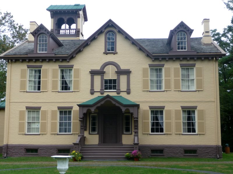 A Gothic Revival porch and Victorian tracery were added, as well as more rooms for the former president's family and guests.