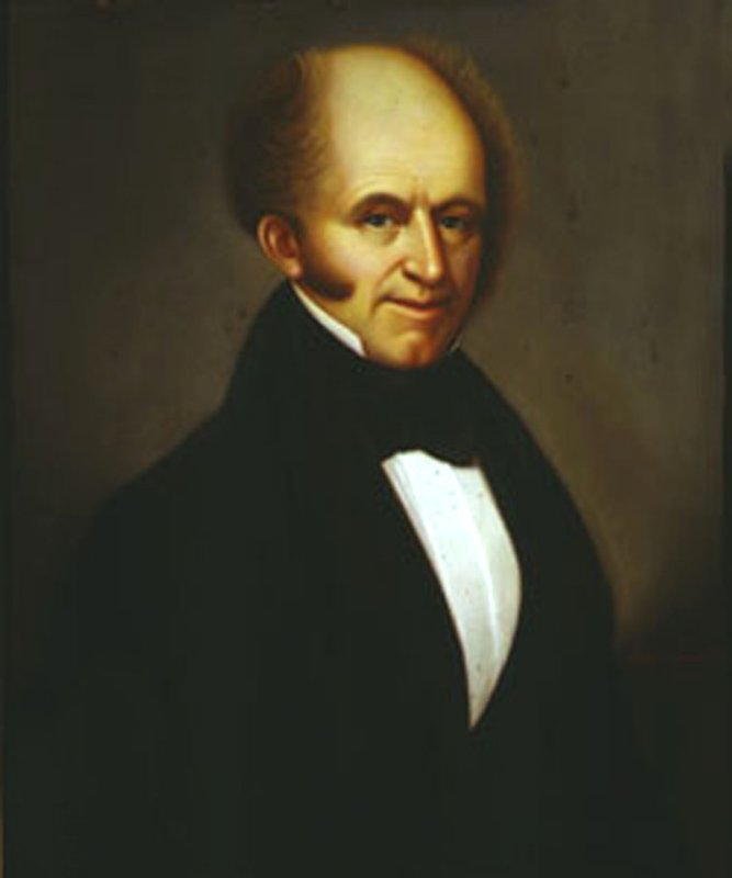 Martin Van Buren, age 56, painted by John Langendoerffer in 1838 (now in the National Portrait Gallery, Smithsonian Institute).