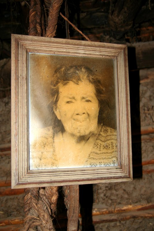 Picture of Rita Caiza who lived in the traditional Ecuadorian house.  It is claimed that she lived to the age of 115.