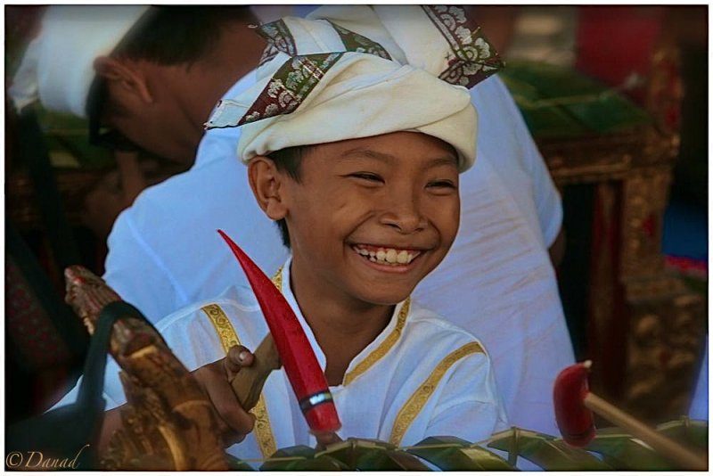 The young Gamelan player.