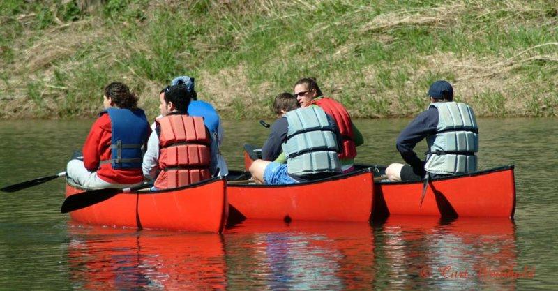 3 canoes