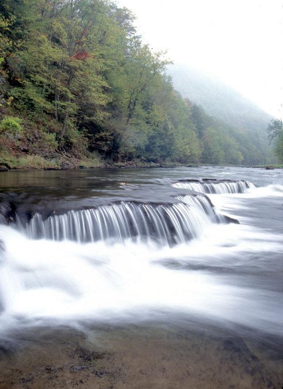 Split Rock-a minifalls on Pine Creek