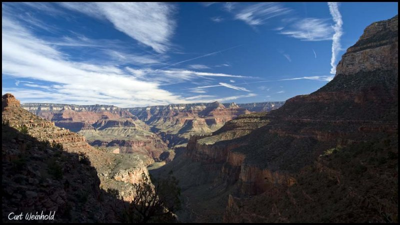 Canyon from Bright Angel Trail. Near the top.