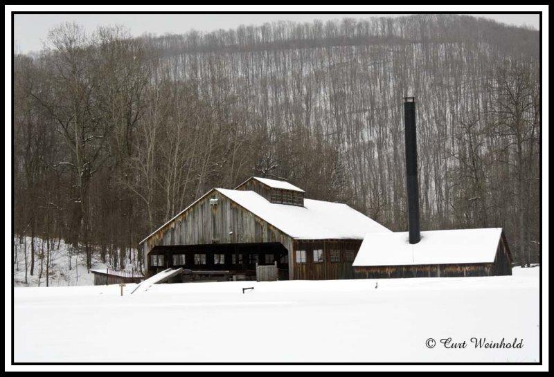Sawmill in white.