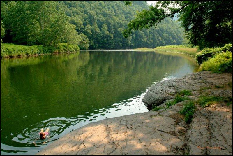 Pine Creek provides numerous swimming holes.
