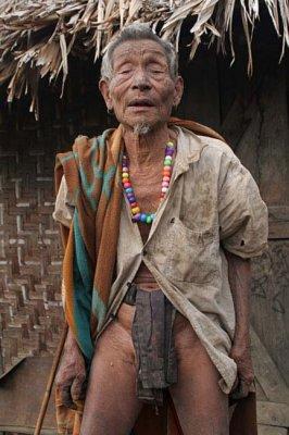 Old man in Monyakshu.