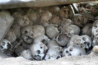 In Sheanghah Chingnyu. Skulls from headhunting times.