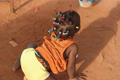 Baby girl in Benin.
