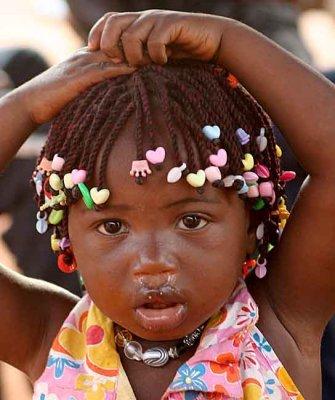 Little girl in Benin.
